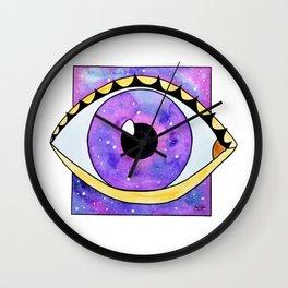 Galaxy eye square Wall Clock