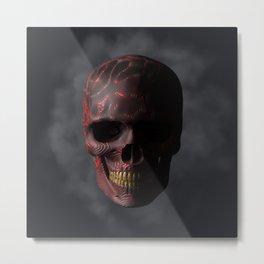 Organic Skull 01 Metal Print