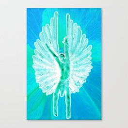 Fly Home Blue Angel Canvas Print