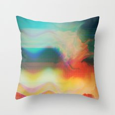 Glitch 01 Throw Pillow