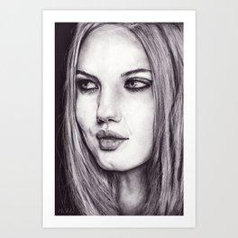 Cinder Fox Art Print