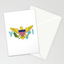 Virgin Islands US flag emblem Stationery Cards