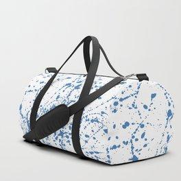 Splat Blue on White Duffle Bag