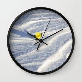 Snow Rose 3 Wall Clock