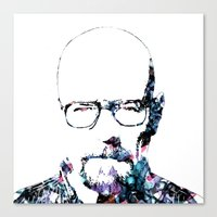 heisenberg Canvas Prints featuring Heisenberg by NKlein Design