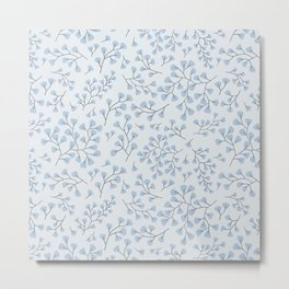 Blue Maidenhair Metal Print