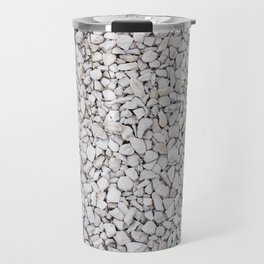Small white stones pattern Travel Mug