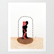 Slow Dance on a Shag Carpet Art Print