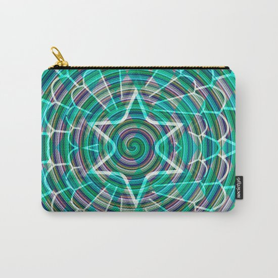 Green spiral abstraction Carry-All Pouch