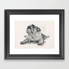 iPug Framed Art Print