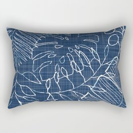 INDIGO OMBRE PALMS Rectangular Pillow