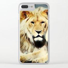 lion's harmoni Clear iPhone Case
