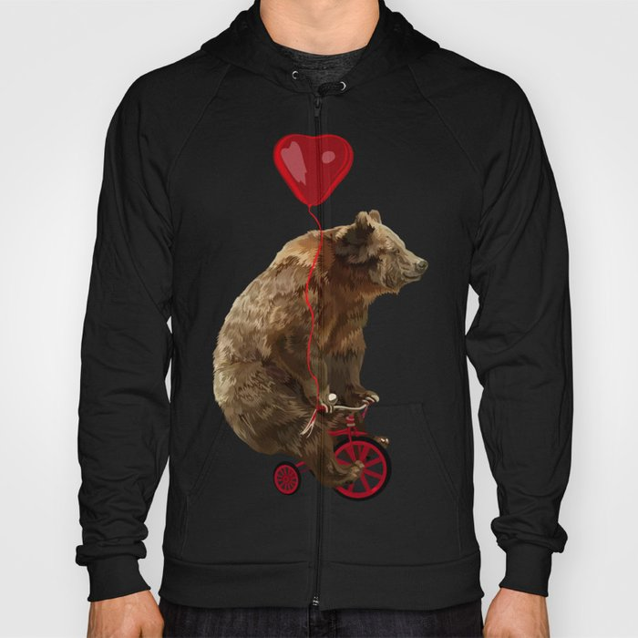 Big Bear with bicycle iPhone 4 4s 5 5s 5c, ipod, ipad, pillow case and tshirt Hoody