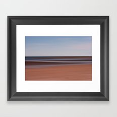Lines in the sand Framed Art Print