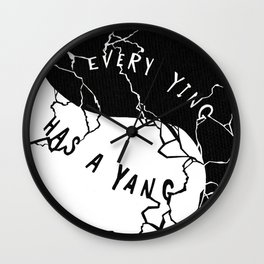 Ying and Yang Wall Clock