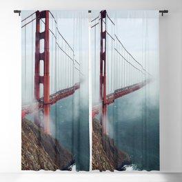 Amazing San Francisco Golden Gate Bridge In Heavy Fog Ultra HD Blackout Curtain