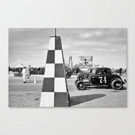 The Race of Gentlemen bw 1 Canvas Print
