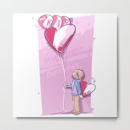 This Kid Loves Valentine's Day Everyday Metal Print