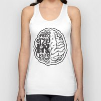 brain Tank Tops featuring Brain by RomaM