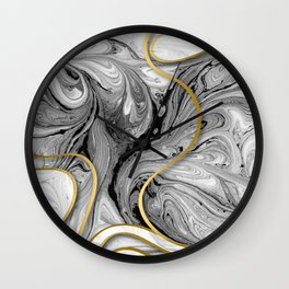 Golden lines #2 Wall Clock