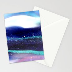 blue and teal glitter trail Stationery Cards