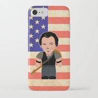 """springsteen iPhone & iPod Cases featuring The Boss by Michele """"Sonik"""" Bruseghin"""