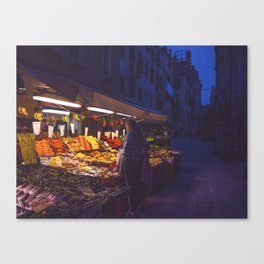 Fruit Shopping in Venice Canvas Print