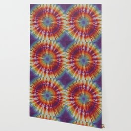 Tie Dye Circle Rainbow Wallpaper