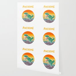 Awesome Since 2015. 4th Birthday Gift 4 Years Old Dinosaur design Wallpaper