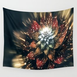 3D Color Flower V3 Wall Tapestry