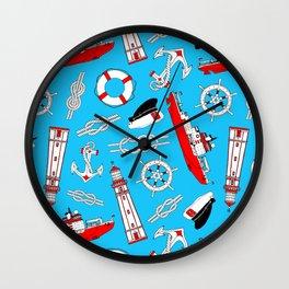 Ship in the Sea Wall Clock