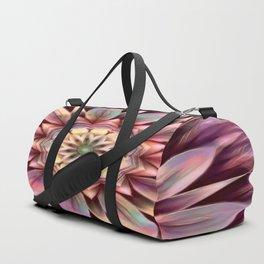 Pastel Dimensional Flower Mandala Duffle Bag