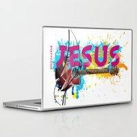 jesus Laptop & iPad Skins featuring Jesus by Eva777