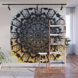 Touch of golden glow Wall Mural