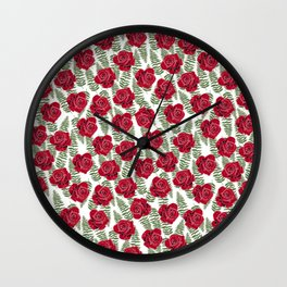 Roses are for lovers Wall Clock