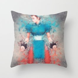 Street Fighter 2 - Chung Le Throw Pillow