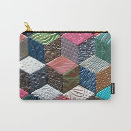 Tumbling Blocks #1 Carry-All Pouch