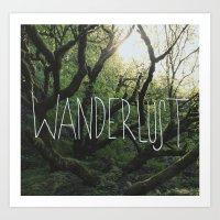 wanderlust Art Prints featuring Wanderlust by Leah Flores