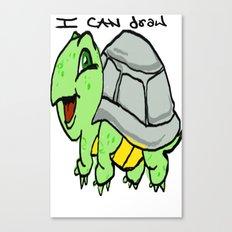 childish turtle  Canvas Print