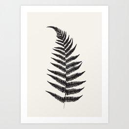 Minimal Fern Leaf Art Print