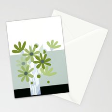modern flowers in vase Stationery Cards
