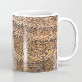 Warm Waved Wood Coffee Mug