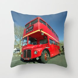 Dartmoor Routemaster  Throw Pillow