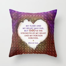 The Strength of My Heart Throw Pillow