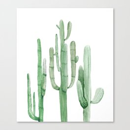 Three Amigos White + Green by Nature Magick Canvas Print