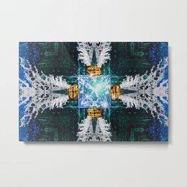 Embrace Blue Metal Print