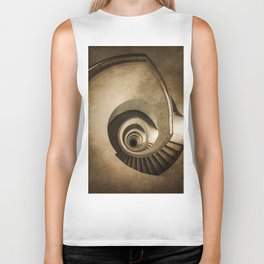 Spiral staircase in brown tones Biker Tank