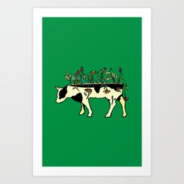 Cow Me Vegan Art Print