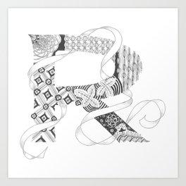 "Zenletter ""R"" Art Print"