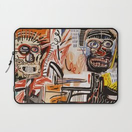 A vectorised Basquiat Laptop Sleeve